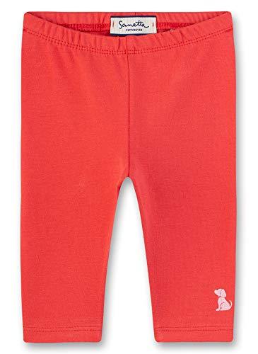 Sanetta Baby-Mädchen Fiftyseven Leggings, Rot (Chilli 37007), 80 (Herstellergröße: 080)