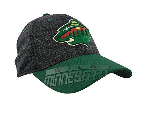 Reebok 2016 NHL Playoff Structured Flex Fit Cap (S/M, Minnesota Wild)
