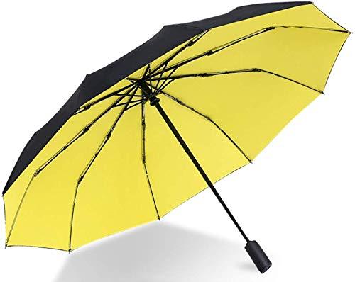 Fach Regenschirm, Automatische Wasserdicht Sonnenschutz UV-Schutz Trägt Beständig Mehltaubeweis Nicht Schnell Trocknend Verrutschen