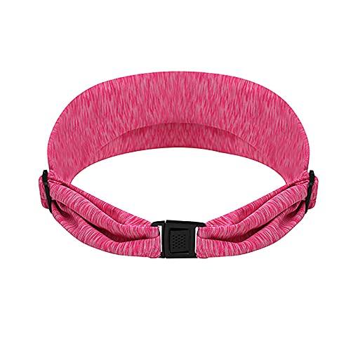 Riñonera Soporte para Teléfono Waist Pack Bag Móvil Riñonera Cinturón para Correr Cinturón Delgado Pero Espacioso Riñonera con Compartimentos Riñoneras para Senderismo Ciclismo Viajes,Rose Red