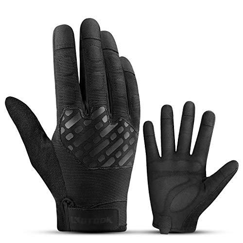 KUTOOK Guantes De Trabajo Multifuncionales con Pantalla Táctil para Jardinería Y Bricolaje(Negro, XL)
