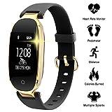 WOWGO Fitness Tracker pour Les Femmes Étape Counter IP67 Imperméable Bluetooth Podomètre Bracelet
