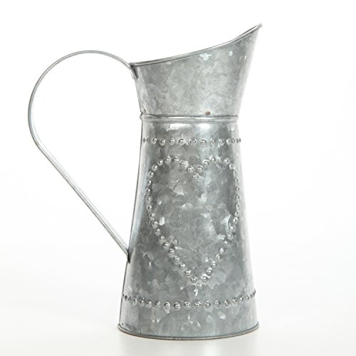 Galvanized heart pitcher.