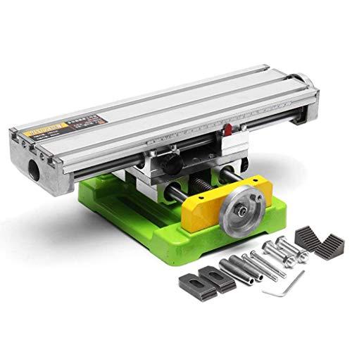 NRG6350 Präzisions-Quertisch, Kreuztisch mit Klemmen, Schraubenbank im Arbeitskreuz für Bohrmaschinen, Fräsmaschinen, CNC usw. Arbeitsfläche von 350 x 100 mm