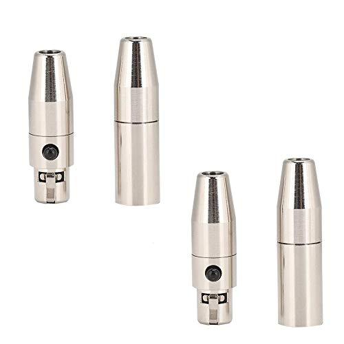2 paar koperen lasconnector vernikkelde behuizing Koper vergulde pin 3-core MINI XLR audio laskop voor doe-het-zelf