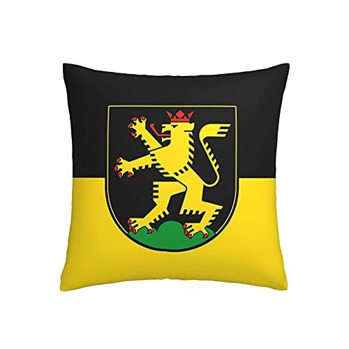 Heidelberg Kissenbezug, Flagge, Baumwolle, Leinen, quadratisch, für Zuhause, Sofa, Schlafzimmer, dekorativ, 45,7 x 45,7 cm