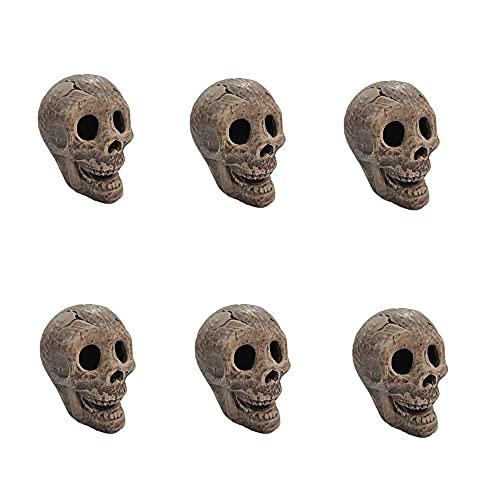 Ceramic Human Skull Fire Log Fireproof Skull logs for fire Pit,Fireplace,...