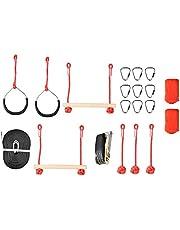 VGEBY1 Ninja Rope, Children Obstacle Training Climbing Course Warrior Junior Fitness Equipment Kit