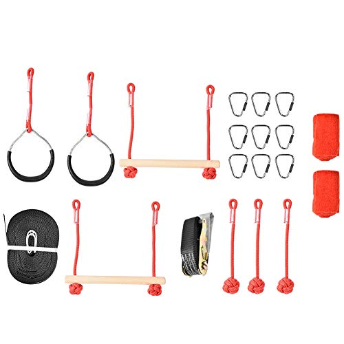 VGEBY1 Ninja Seil, Kinder Hindernis-Training Kletterkurs Warrior Junior Fitness Ausrüstung Kit