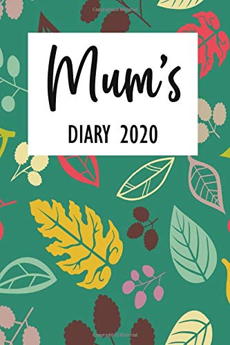 Mum's Diary 2020: Week To View - Organised Mum 2020 Desk Diary Book - Pocket Month to View Calendar Planner - Busy Mums Yearly Organiser - Retro Green