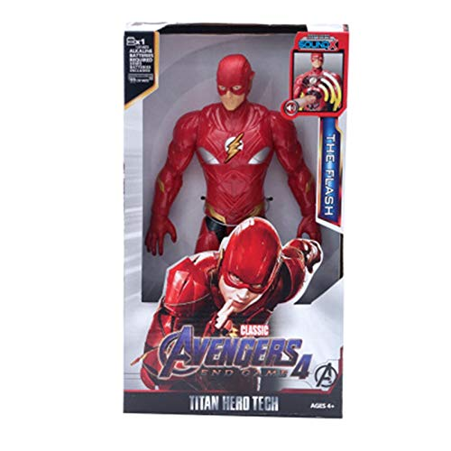 Letaowl Actionfiguren 30cm Helden Black Panther Thany Captain Thor Iron Man Spiderman Hulkbuster Hulk Action Figure (Color : The Flash NO Box)