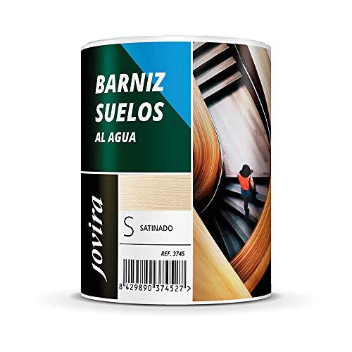 BARNIZ SUELOS AL AGUA. Protege todo tipo de suelos de madera en interior. (2,3 Litros, SATINADO)