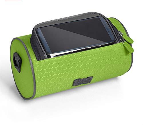 SHENGHUI Bolsa impermeable para manillar de bicicleta eléctrica, bolsa delantera de motocicleta, bolsa de transporte para teléfono móvil (color azul oscuro, tamaño: 3L)