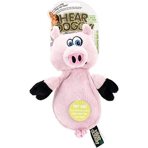 Hear Doggy Flatties with Chew Guard Technology Dog Toy, Pig (770301)