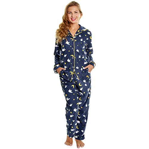 Angelina Women's Cozy Fleece Pajama Set, PJ56_M