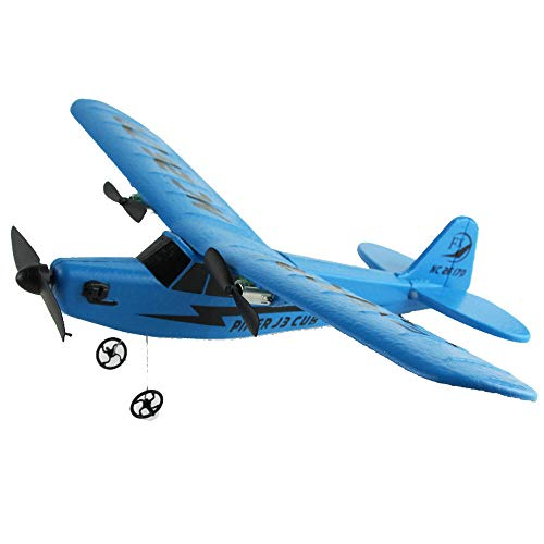 Singleluci Remote Control RC Helicopter Plane Glider Airplane EPP Foam 2CH 2.4G Toys Fall-Resistant Aircraft Drone Children Outdoor Toys Parent-Child (Blue)