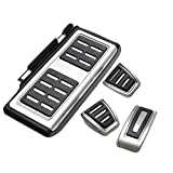 WXX QQBH For el reemplazo 4pcs Golf GTI 7 MK7 / Set Kit de Pedal Pedales Automotive reposapiés del Embrague del Freno del Acelerador (Color : Black)