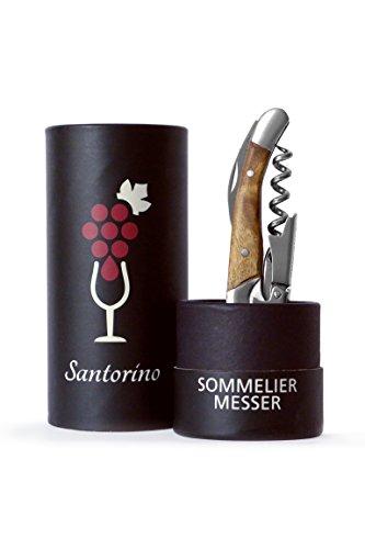 Santorino Kellnermesser - Exklusives Sommeliermesser aus Campecheholz, 2 Stufen...