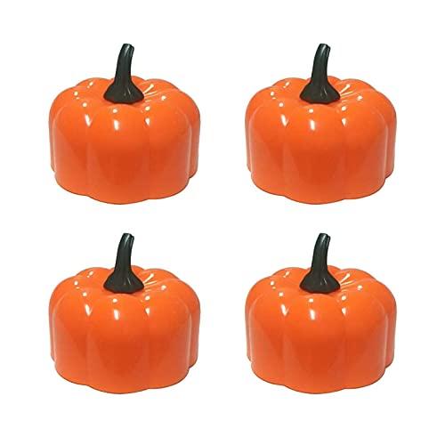 Luz de calabaza de Halloween, Decoración de calabaza naranja 3D Luz electrónica...