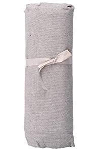 HomeLife – Foulard Multiusos – Tela Decorativa Cubre sofá con diseño Liso, 160x280, fabricación Italiana – Granfoulard de algodón – Cubrecama Individual (Cama 1 Plaza) – Gris