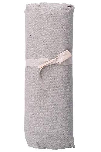 HomeLife - Telo Arredo Copridivano a Tinta Unita – Lenzuolo Copritutto Multiuso in Cotone – Granfoulard Copriletto per Letto Matrimoniale – Made in Italy- [260 X280] Grigio