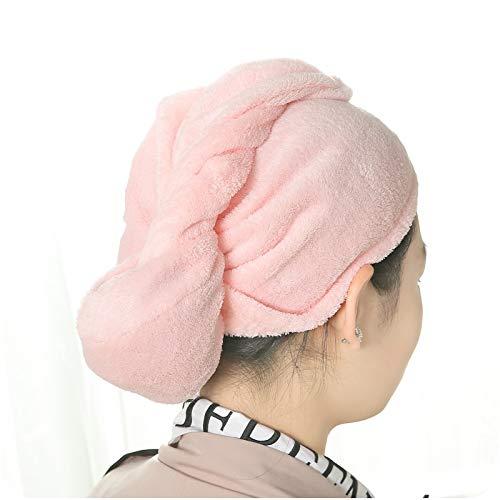 Family Needs 3PCS / LOT Huis Coral Fluweelachtige Absorberende Droog haar cap handdoek Node sneldrogend Hood (willekeurige kleur) (Size : 60 * 20cm)