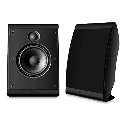 Polk Audio OWM3 Wall and Bookshelf Speakers | The Most High-Performance Versatile Loudspeaker | Paintable Grilles (Pair, Black)