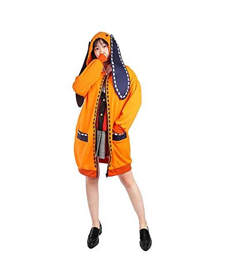 JOYEAR Anime Kakegurui Runa Yomozuki Cosplay Costume Jabami Yumeko Orange Hoodie with Ears