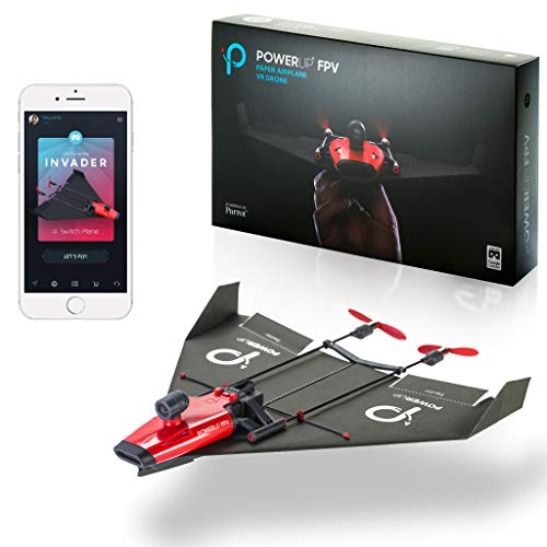 PowerUp X Fpv Smartphone Remote Controlled Paper Airplane Dual Motor Conversion Kit with A Live...