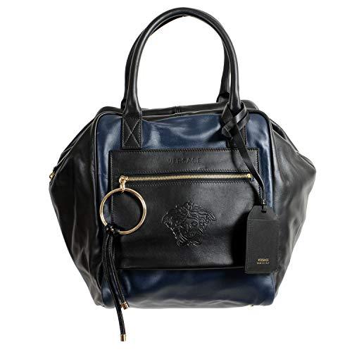 Bolsa feminina Versace 100% couro multicolorido bolsa de ombro