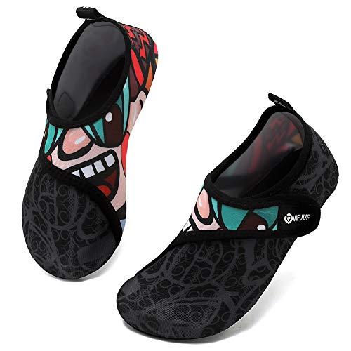 VIFUUR Kids Water Shoes Girls Boys Quick Dry Aqua Socks for Beach Swim Outdoor...