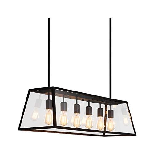 W&Q Caja de Cristal Retro Industrial Europea LED araña decoración Sala de Estar Dormitorio Comedor (Energía A ++) 0320 * (Color : A)