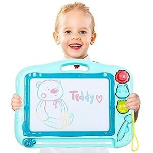TTMOW Pizarras Mágicas Colorido con Pluma Almohadilla Borrable de Escritura y Dibujo Juguetes Educativos para niños (Azul)