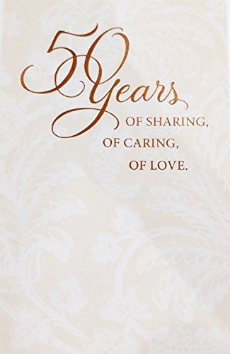 """50 Years of Marriage - Celebrate Your 50th / Golden Anniversary - Greeting Card - """"You've built a beautiful life together"""""""