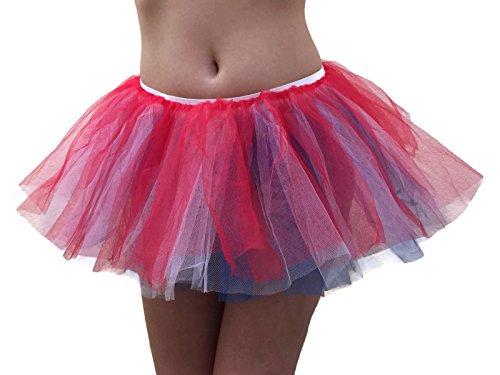 Rush Dance Women's Multi Color Organza Sexy Rave Costume Tutu