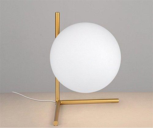 CHUANGJIE Creatieve LED tafellamp bal glas slaapkamer lamp warm decoratie leren bedlampje 3-a