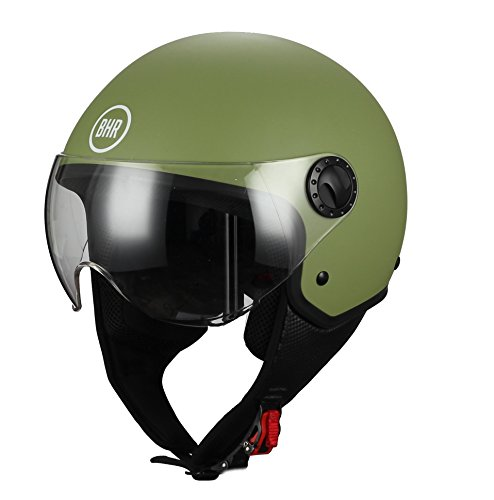 casco scooter offerta BHR 05254 Casco Moto Demi-Jet Linea One 801