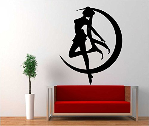 Sailor Moon Anime Serena Usagi Vinyl Decal Sticker for Car Window Wall Truck (23' inches (Black)