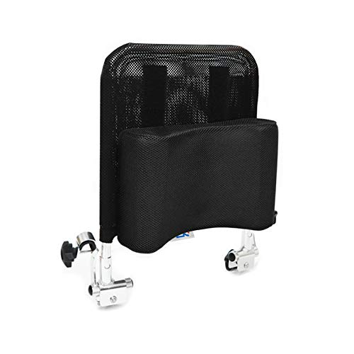 Huapa Wheelchair Headrest Backrest,Headrest Neck Support Comfortable Seat Back Cushion U Type Pillow Adjustable Angle Low Repulsion Breathable Universal Wheelchair Accessories Toilet Chair(Black)