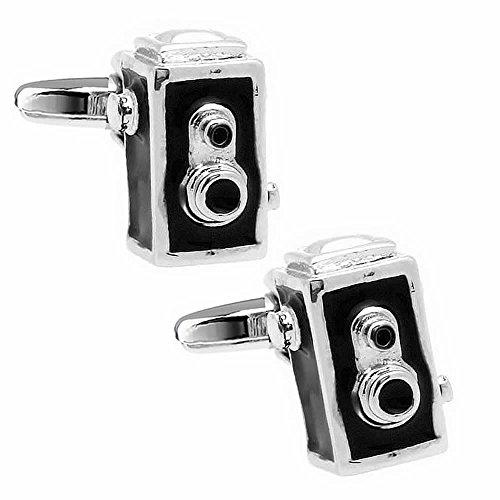 レトロ ボックス ブローニースタイル カメラ カフス カフスボタン カフリンクス n01567