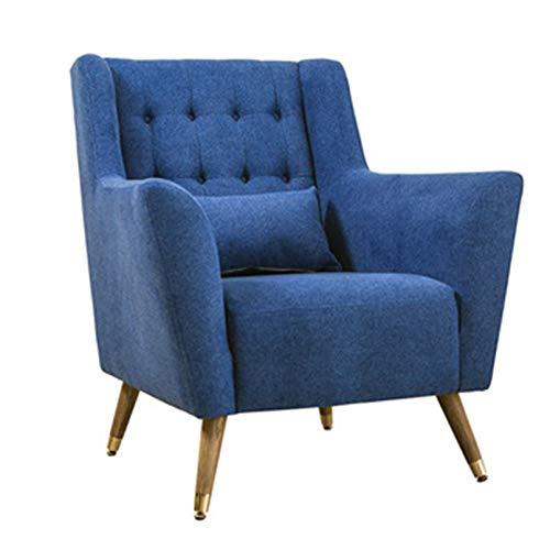 Creator-Z Sillon orejero (Sillon Lactancia) Sillón tapizado Butaca capitoné Estilo Mid-Century Modern,Azul