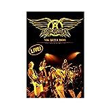 Aerosmith Rock Band Leinwand Poster Schlafzimmer Dekor