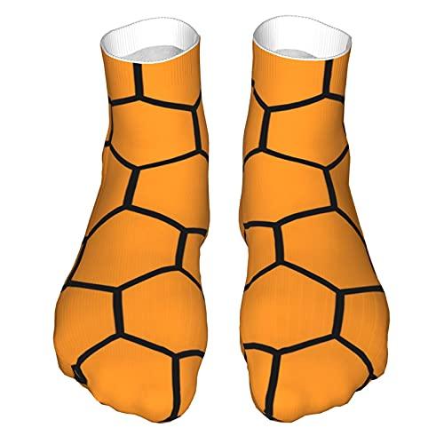 OUYouDeFangA Amarillo Honeycomb Patrón Adulto Calcetines Algodón Lindo Calcetines Cortos Para Yoga Senderismo Ciclismo Correr Fútbol De