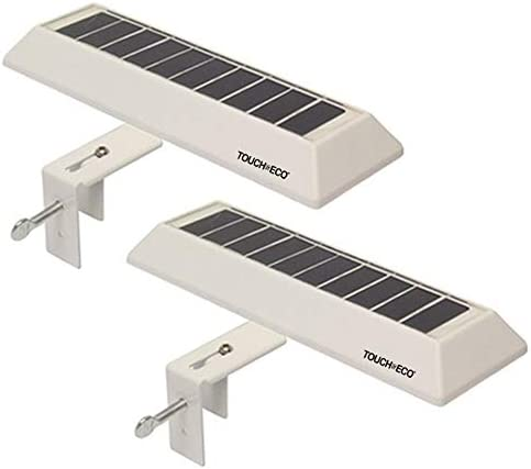 Touch of ECO Solar LED Gutter Fence Accent Light with Adjustable Mounting Bracket 2 Pack product image