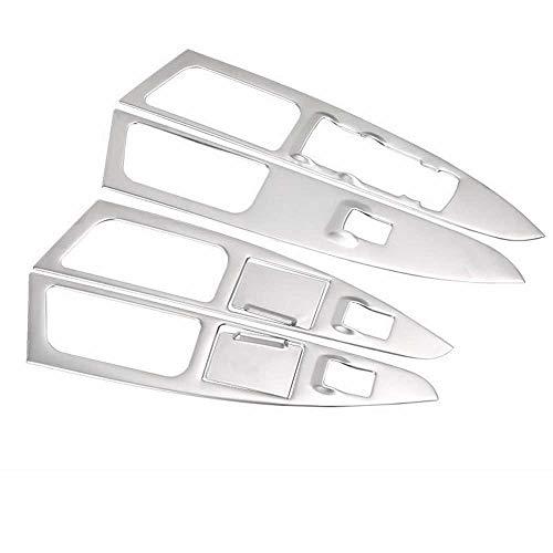 HJPOQZ Panel de Interruptor de elevación de Vidrio de Coche, reposabrazos Interior, Marco Decorativo, Apto para Ford Mondeo 2013 2014 2015 2016 2017 2018 2019