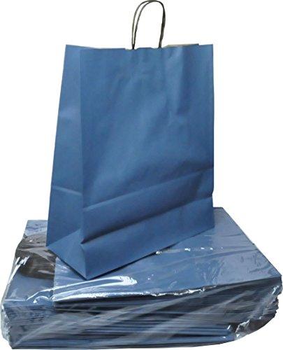 Papier-Tragetaschen TOPTWIST 40 x 16 x 45cm - blau