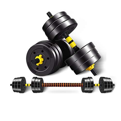 Mancuernas para hombre al aire libre ajustable peso mancuernas para el hogar fitness principiantes ejercicio brazo muscular mancuernas gimnasio peso mancuernas (color: negro, tamaño: 30 kg)