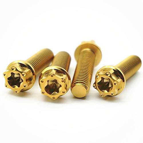 WYBW Tornillos de titanio M8 X 15 20 25 Mm Brida Torx Ti Per