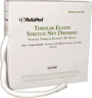 ReliaMed Non-Sterile Latex Tubular Elastic Stretch Net Dressing for Head, Shoulder and Thigh, Small 10