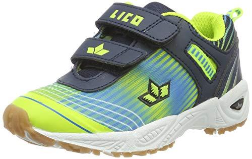 Lico Unisex Kinder Barney V Multisport Indoor Schuhe, Blau (Marine/Blau/Lemon Marine/Blau/Lemon), 28 EU